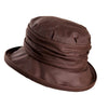Olney Headwear Annable ladies brown waxed rain hat