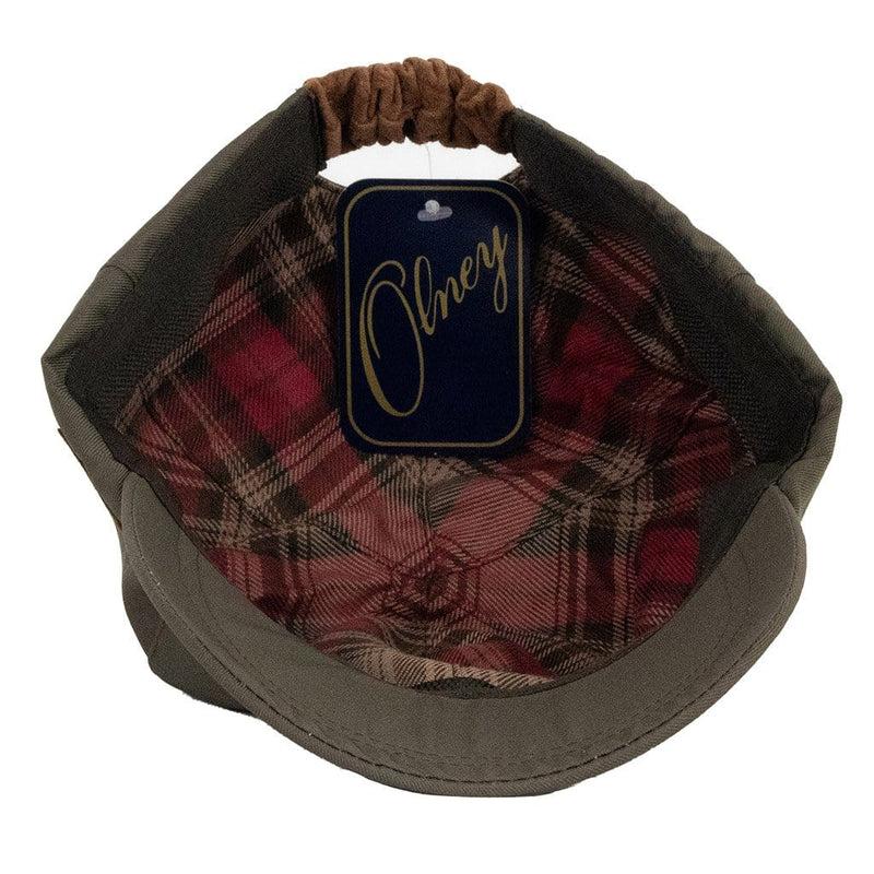 olney-headwear-sports-cap-showing-inner-red-and-brown-tartan-lining