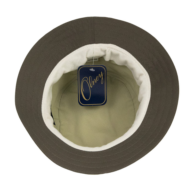 olney-headwear-tay-hat-showing-contrast-olive-under-brim-on-cream-hat
