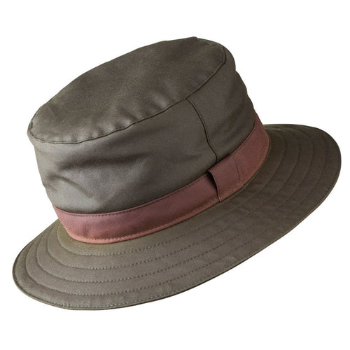 Olney Headwear Wax Spey Mens Olive Rain Hat