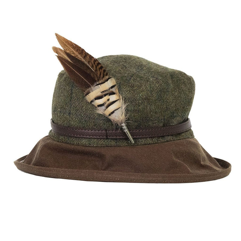 peak and brim hats betty tweed hat with partridge and pheasant hat pin