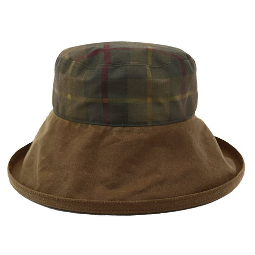 peak-and-brim-hunter-tartan-waxed-rain-hat