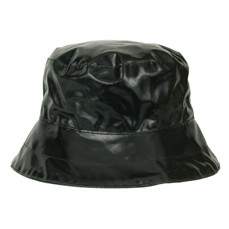 ladies black pvc rain hat bucket style hat