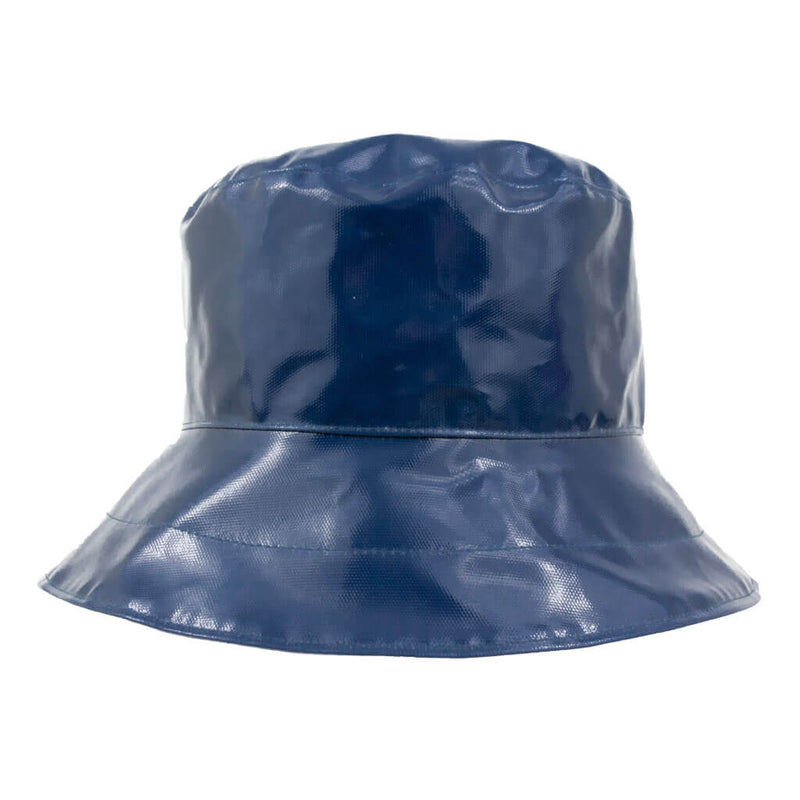 ladies navy pvc rain hat
