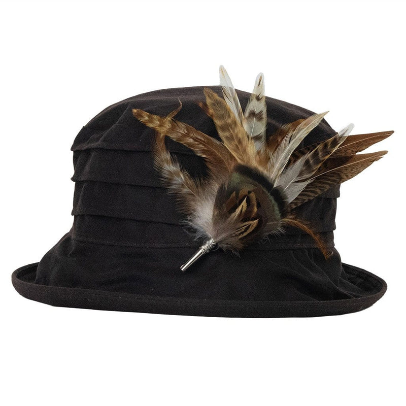 peak-and-brim-nola-brown-hat-with-gamebird-feather-hat-pin