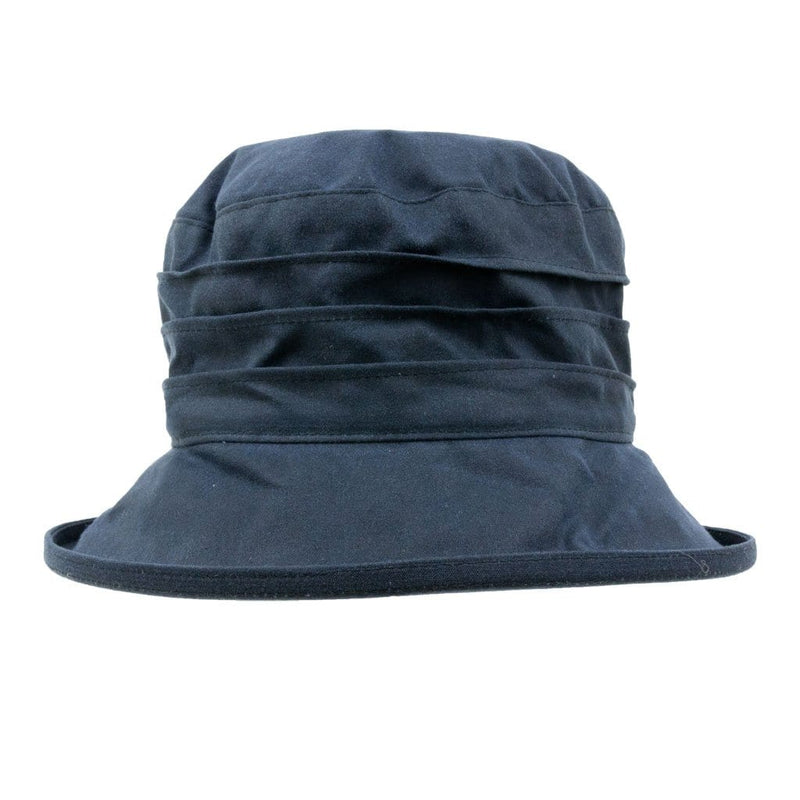 Peak And Brim Nola Ladies Navy Waxed Rain Hat