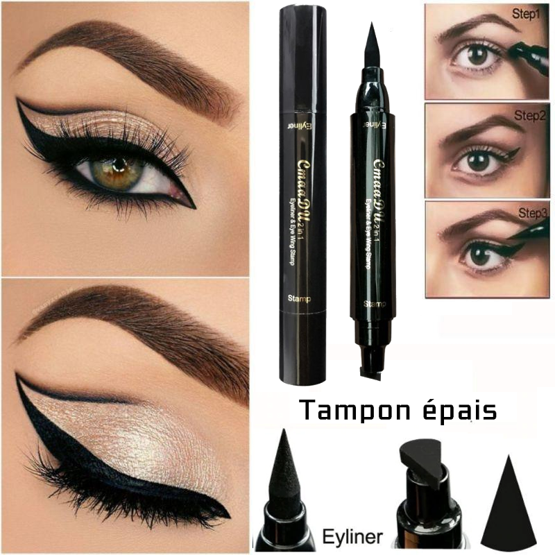 2in1 - EyeLiner & Stamp: Sublimer votre regard en un battement de cil.