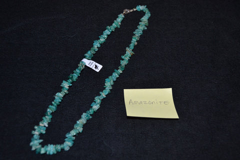 "18"" AMAZONITE CHIP NECKLACE"