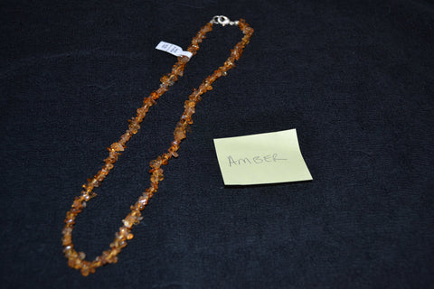 "18"" AMBER CHIP NECKLACE"