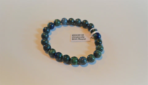 CHRYSOCOLLA 8MM ROUND
