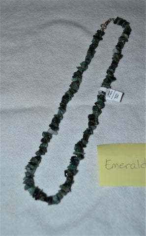 "18"" EMERALD CHIP NECKLACE"
