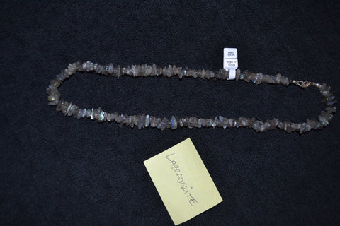 "18"" LABRADORITE CHIP NECKLACE"