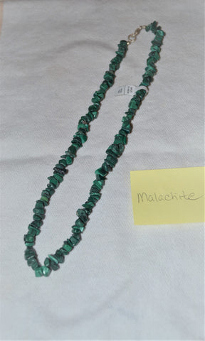 "18"" MALACHITE CHIP NECKLACE"