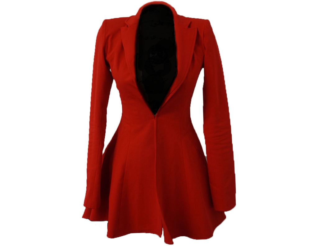 Red Hi/Low Blazer Dress