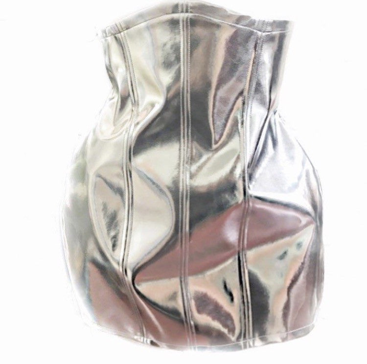 Limited edition silver underbust corset skirt