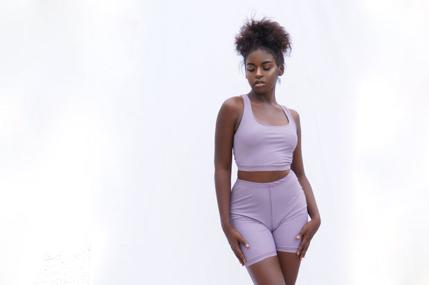 Purple 2 Piece Short Set