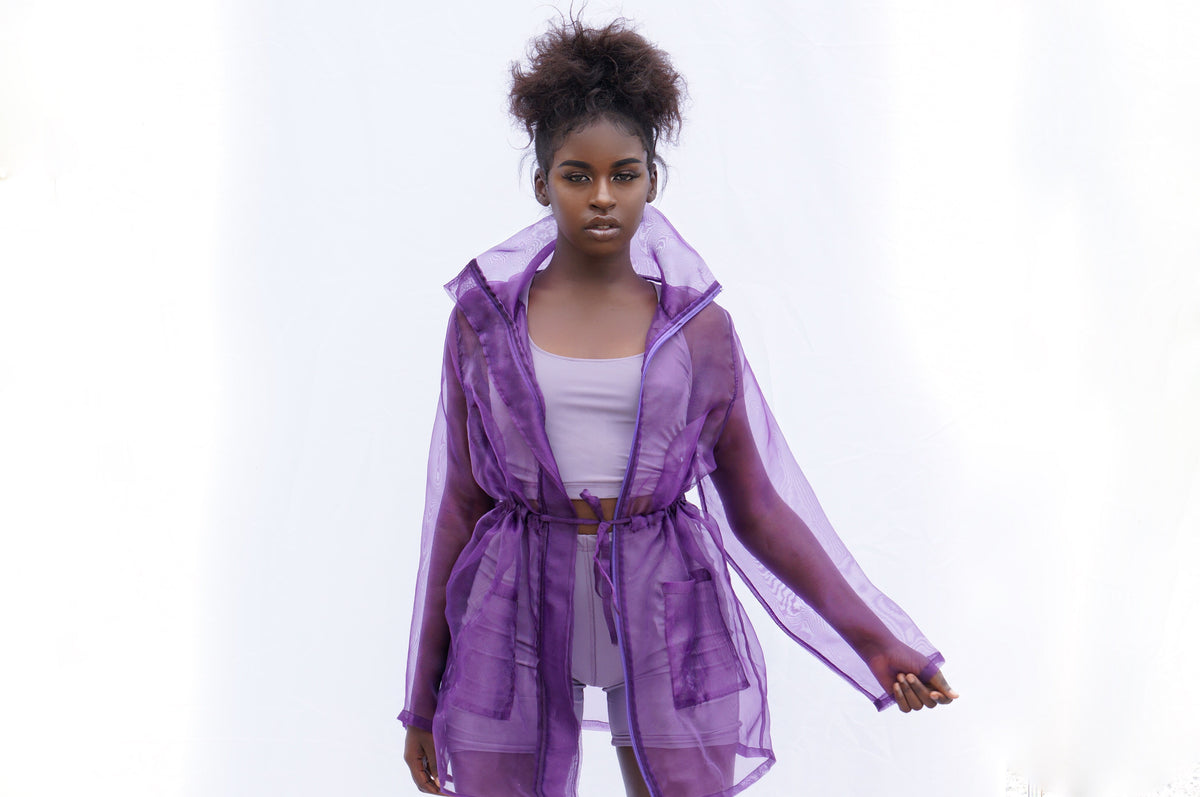 Purple  Overlay Jacket
