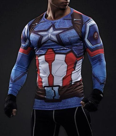CAPTAIN AMERICA Shirt - Gym Heroics Apparel