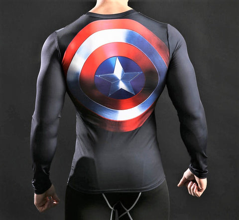 CAPTAIN AMERICA Workout T-Shirt