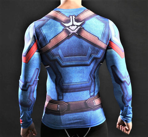 CAPTAIN AMERICA Gym Shirt - Gym Heroics Apparel