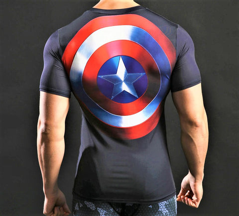 CAPTAIN AMERICA Gym T-Shirt - Gym Heroics Apparel