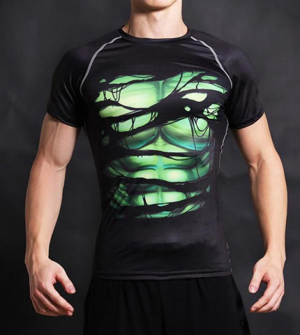 BRUCE BANNER Compression T-shirt (Black) - Gym Heroics Apparel