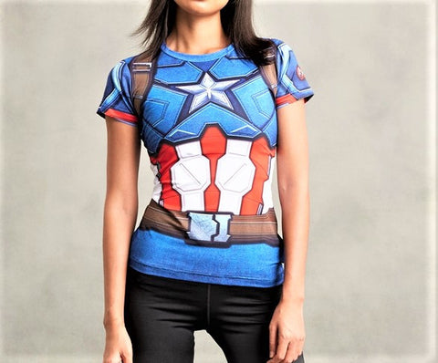 CAPTAIN AMERICA Women's Gym T-Shirt