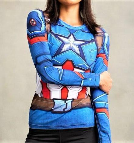CAPTAIN AMERICA Women's Gym Shirt