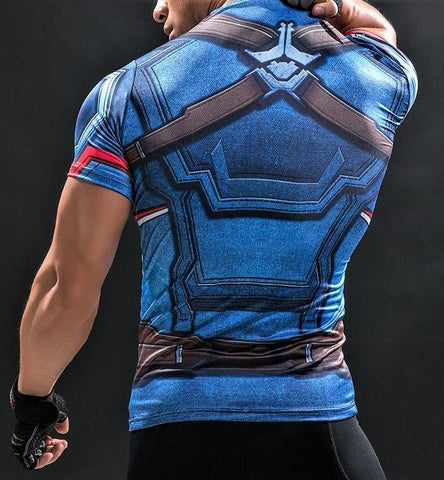 CAPTAIN AMERICA T shirt - Gym Heroics Apparel