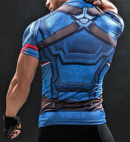 CAPTAIN AMERICA Workout T-shirt - Gym Heroics Apparel