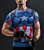 CAPTAIN AMERICA Workout T shirt