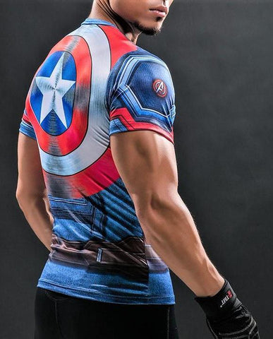 CAPTAIN AMERICA T-shirt - Gym Heroics Apparel