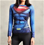 SUPERMAN Women's Gym Shirt