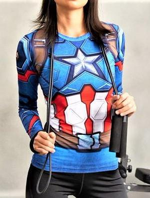CAPTAIN AMERICA Women's Gym Shirt - Gym Heroics Apparel