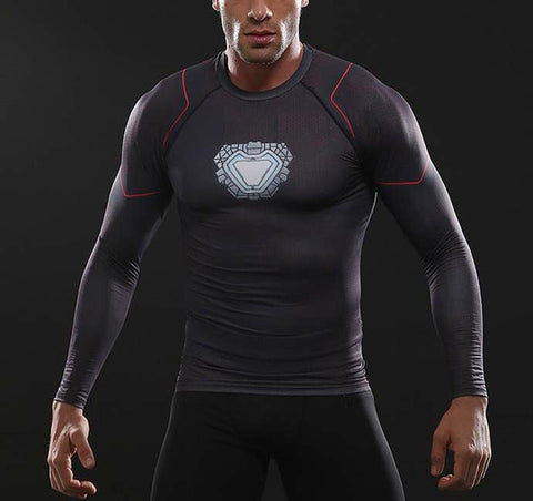 INFINITY WAR IRON MAN Undersuit Shirt - Gym Heroics Apparel