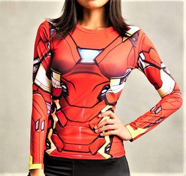 IRON MAN Women's Gym Shirt - Gym Heroics Apparel
