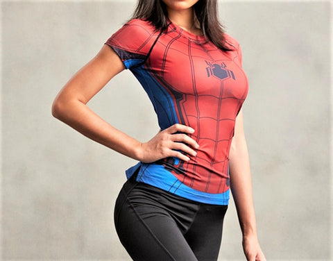 SPIDERMAN Women's Gym T-Shirt
