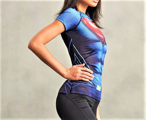 SUPERMAN Women's Gym T-Shirt