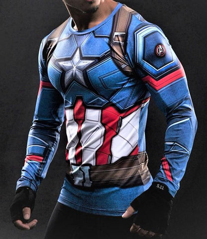 CAPTAIN AMERICA Gym Shirt