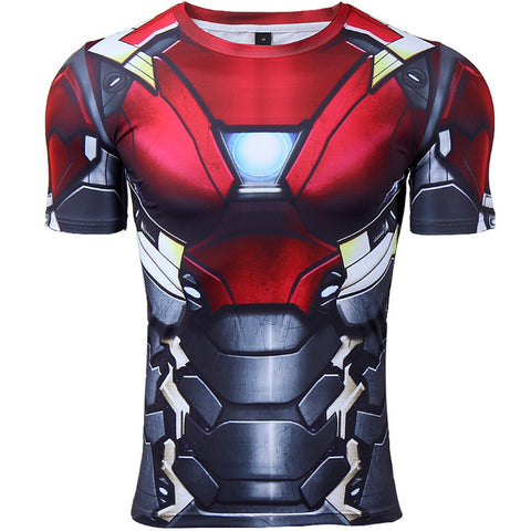 IRON MAN Gym T-Shirt - Gym Heroics Apparel