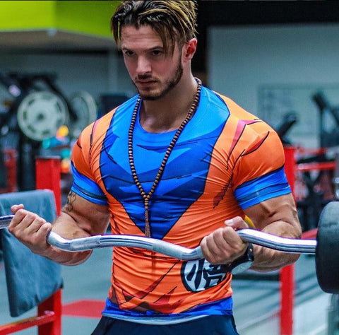 Superhero work out clothing, superman, batman, ironman, marvel, dc, t-shirts