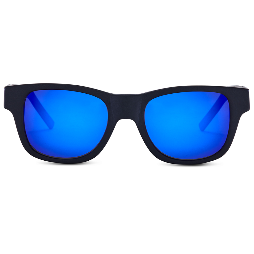 8c5e8e329b Matte Black Frame - Blue Mirror Lenses