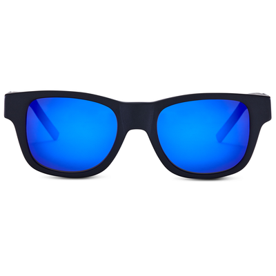 Matte Black - Blue Mirror Lens