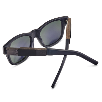 Matte Black Frame - Blue Mirror Lenses