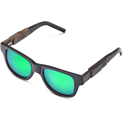 Matte Black - Green Mirror Lens