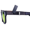 HAZE - Matte Black Frame - Green Mirror Lenses
