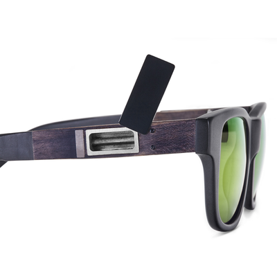 Matte Black Frame - Green Mirror Lenses