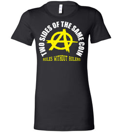 Anarchy/ Voluntaryism: Two Sides of the Same Coin Women's Fitted T-Shirt