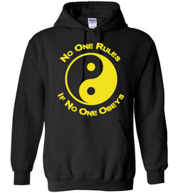 No One Rules If No One Obeys Yellow Hoodie