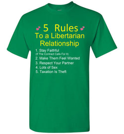5 Rules To A Libertarian Relationship T-Shirt
